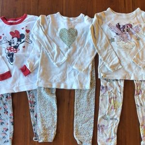 Toddler Girls Gap Kids Pajama Bundle